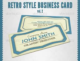 retro style business card vol 2 by martin t graphicriver