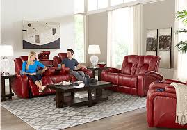 kingvale red 2 pc living room living room sets red