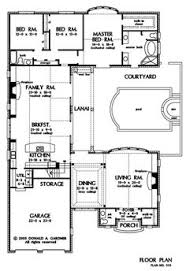 Courtyard House Floor Plans Southwest House Plans At Dream Home Source Southwestern Style