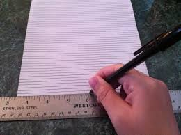 thick writing paper ma iingan s crafts writing straight on blank paper take your lined page and set it behind your blank page and voila you can write as though you have lines then once you take away the lined paper from