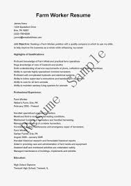 Sample Resume For Factory Worker by Farmer Resume Resume Templates