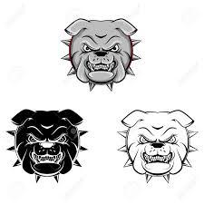 coloring book bull dog cartoon character vector illustration