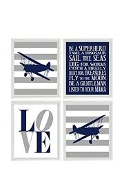 airplane nursery art boy room wall art plane prints boy rules