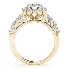 engagement rings flower design frame engagement ring flower design 14k yellow gold 2 10ct