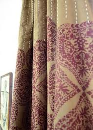 Bohemian Drapes Ikat Gold U0026 Ivory Toned Satin Heavy Faux Silk Curtain 52