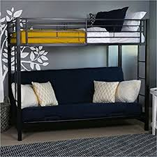 Black Metal Futon Bunk Bed Sturdy Metal Futon Bunk Bed In Black Finish