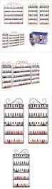 storage and empty containers 5 tier nail polish perfume display