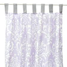 Purple Shower Curtain Sets - lavender white and gray sweet lace damask curtain panels lavender