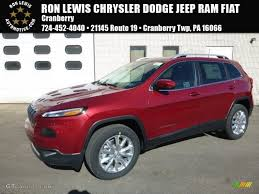 firecracker red jeep cherokee 2017 deep cherry red crystal pearl jeep cherokee limited 4x4