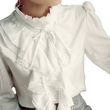 vintage blouse shirt high neck ruffle front vintage frilly blouse womens top size