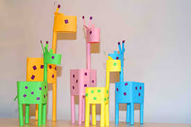 paper crafts for kids paper little giraffes easy paper diy ideas