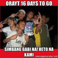Simbang Gabi Memes - orayt 16 days to go simbang gabi na heto na kami pinoy meme