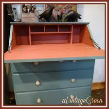 Small Drop Front Secretary Desk by A Vintage Green November 2012