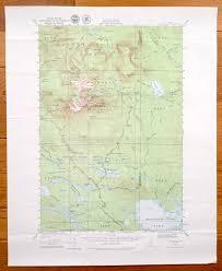 Baxter State Park Map by Antique Mount Katahdin Maine U0026 Baxter State Park 1930 Us