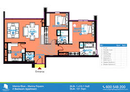 floor plans marina blue tower marina square al reem island 2 bedroom type s