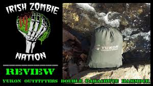 yukon outfitters double parachute hammock review youtube