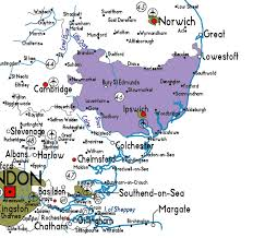 map of east uk map of suffolk in useful information about suffolk