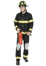 english halloween costumes black fireman costume