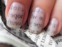 diy newspaper nail art trendy fashion jewelry kitsy lane