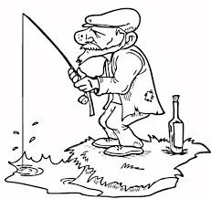 coloring pages of the titanic old man fisher coloring pages activities pictures of fishing