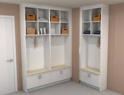 mudroom storage units that will present tidy impression at the