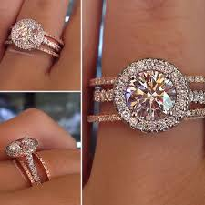 Rose Gold Wedding Ring by Top 10 Halo Engagement Rings