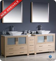 bathroom vanity with side cabinet 84 fresca torino fvn62 361236lo vsl modern double sink bathroom