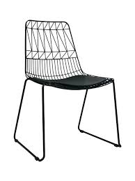 Black Metal Patio Chairs Studio Wire Hee Chair Modern Classic Metal Outdoor Chair Stackable
