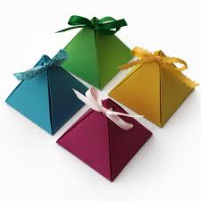 paper pyramid gift boxes so easy that you don u0027t even need glue