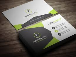 business card geometric style corporate business card template free