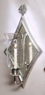 Silver Wall Sconce Candle Holder Hurricane Wall Sconce Candle Holder Foter