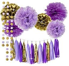 purple decorations qian s party purple lavender glitter gold baby shower