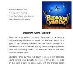 Alan Ayckbourn Bedroom Farce Review Of