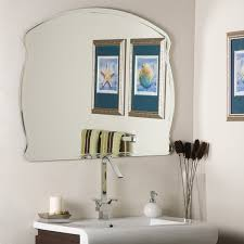 amazon com decor wonderland frameless wide wall mirror home