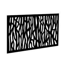tuffbilt 4 ft x 2 ft black sprig polymer decorative screen panel