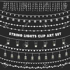 String Of Fairy Lights by Glowing String Lights Clipart Free Glowing String Lights Clipart