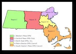 Western Massachusetts Map by Ems Regions