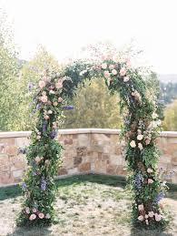 flower arch st regis park city utah destination wedding calie flowers