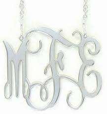 Monogrammed Sterling Silver Necklace Monogrammed Silver Tassel Necklace Krewe Of Domesticus