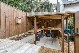 Awning Shed Workbench Ideas Garage And Shed Traditional With Awning Birhouse