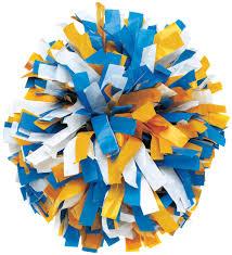 custom 3 color plastic pom omni cheer
