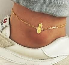 ankle bracelet gold images Jewels ankle jewelry ankle bracelet pineapple gold jewelry jpg