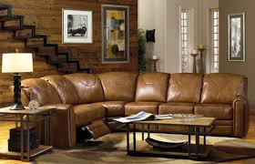 Best Leather Sectional Sofas Neutral Wall Color With Rectangular Shaped Coffee Table Using