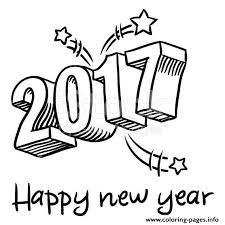celebration of 2017 new year coloring coloring pages printable
