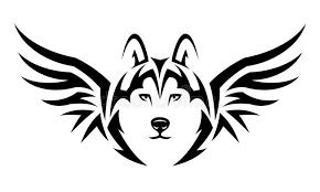flying wolf stock vector illustration of tribal 30554926