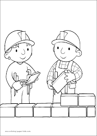 bob builder color cartoon color pages printable