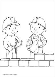 bob builder color coloring pages kids cartoon