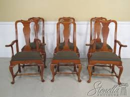 Ethan Allen Queen Anne Dining Chairs Queen Anne Dining Set Ebay