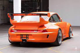 porsche 911 orange crazy widebody corvette powered 1995 porsche 911 hits ebay