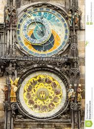 tawn hall orloj in praha close up royalty free stock image